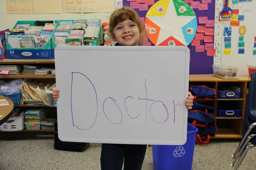 Image of Hailey, an Alanton Elementary first grade student who wants to be a doctor
