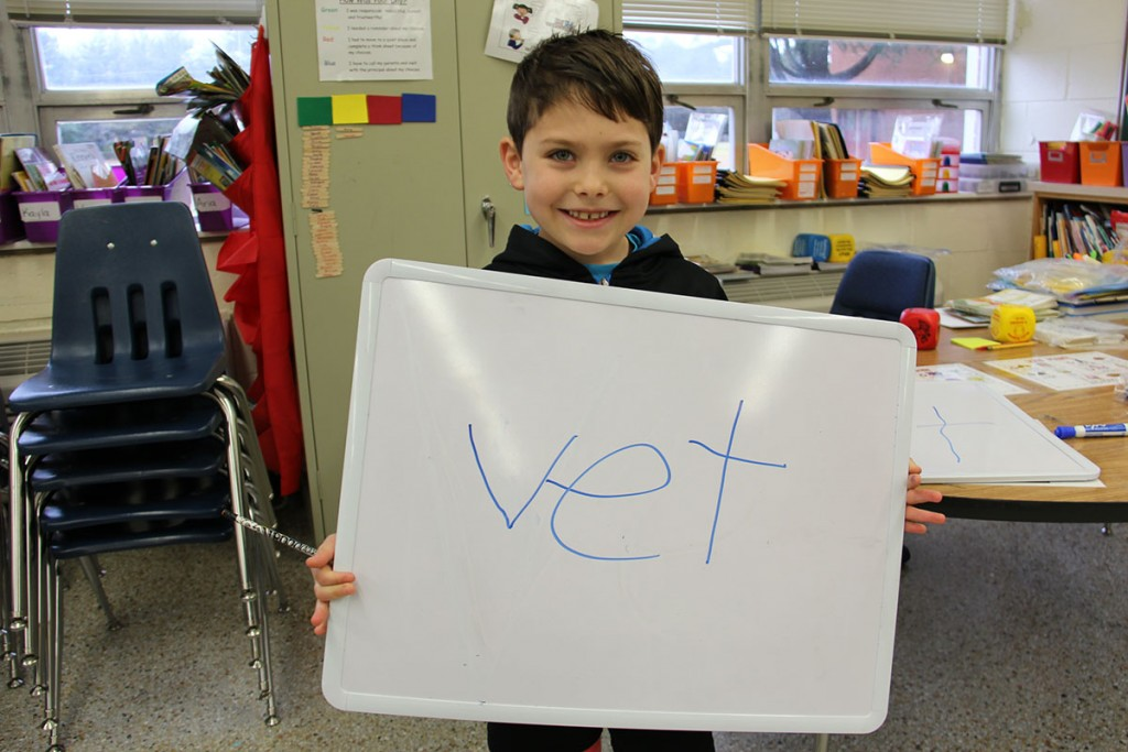 Image of Alanton Elementary 1st grade student who wants to be a veternarian