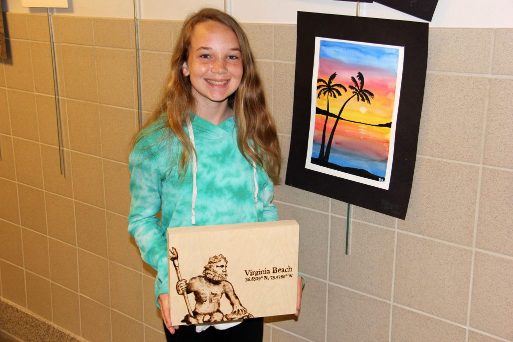 8th grade beach artist VBMS